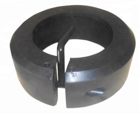 Round Black Rubber Casing Thread Protector Quick Operation For Well Cementing